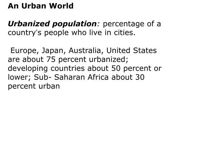 An Urban World
