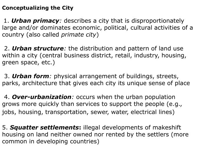 Conceptualizing the City