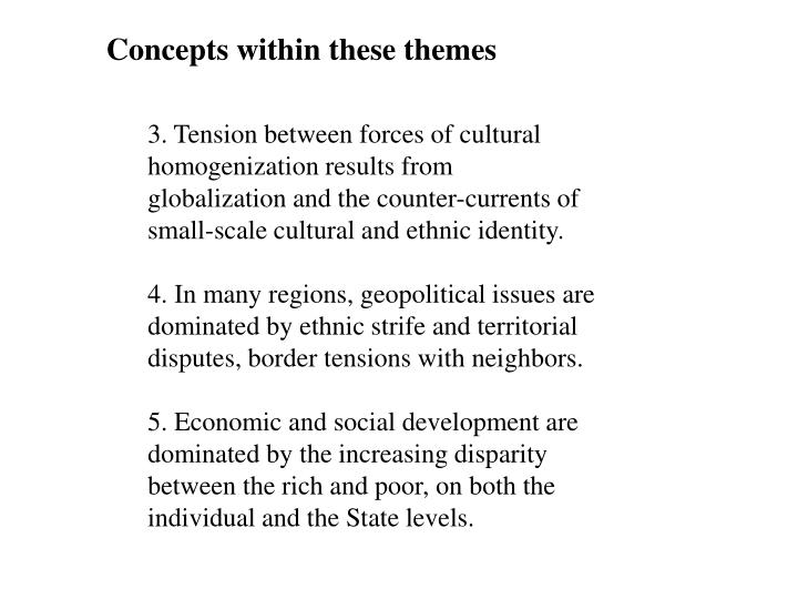 Concepts within these themes