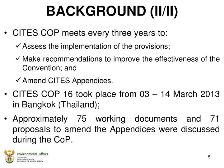 CITES COP meets every three years to: