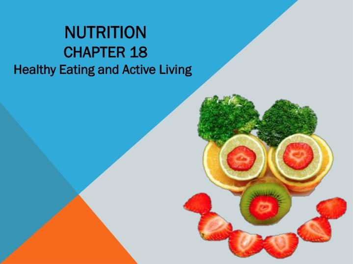 nutrition chapter 18 n.
