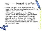r d humidity effect