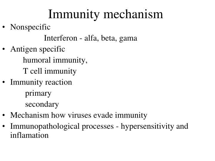 Immunity mechanism