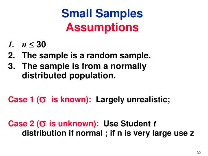 Small Samples