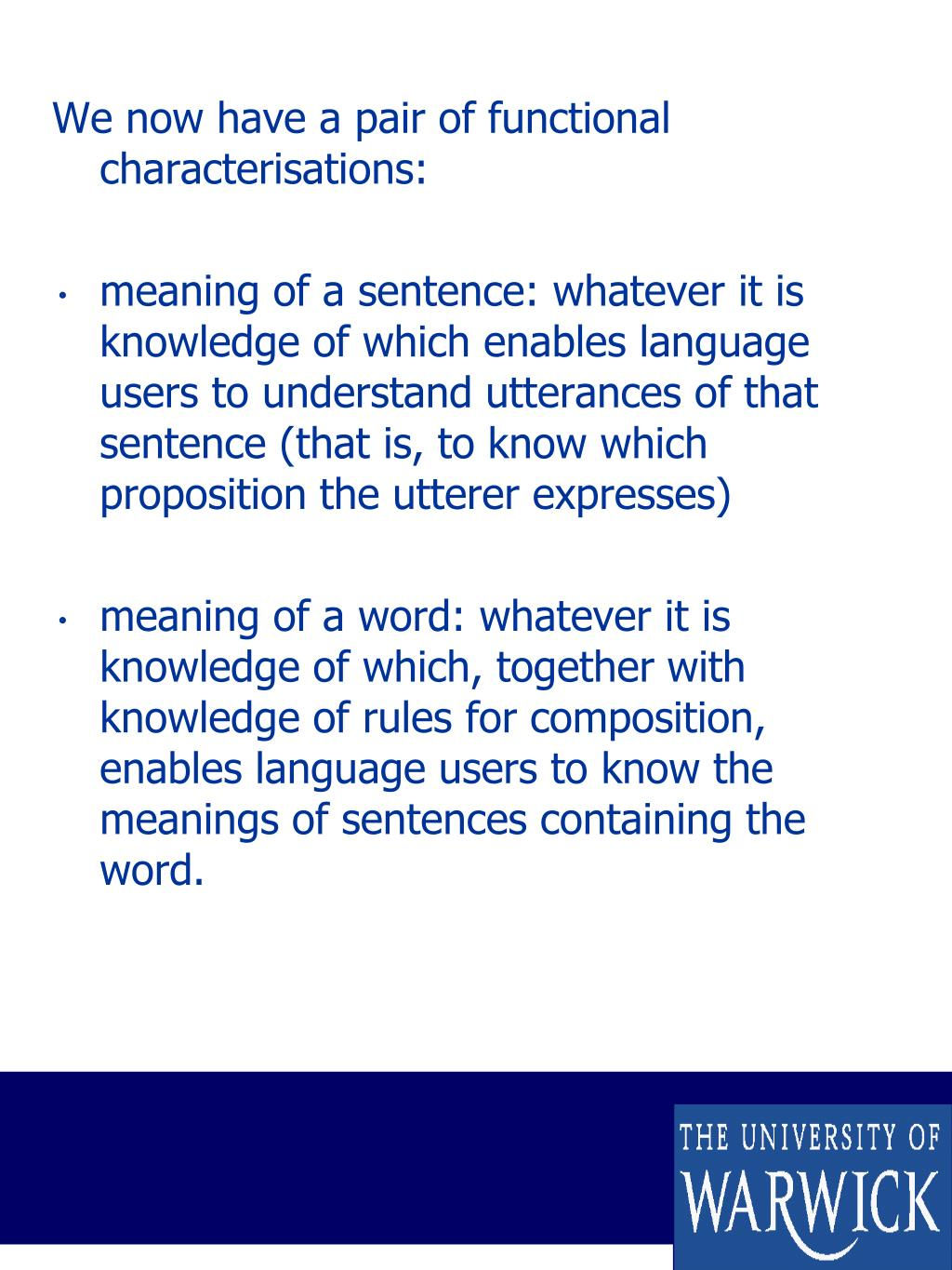 PPT - What makes communication by language possible