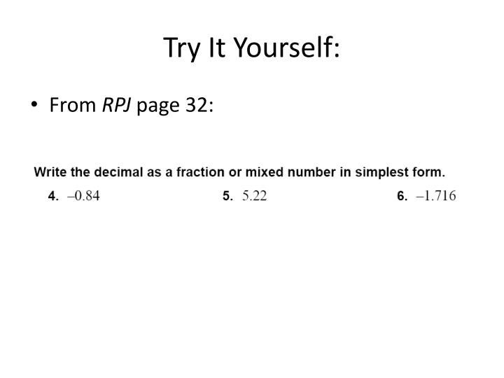 Try It Yourself: