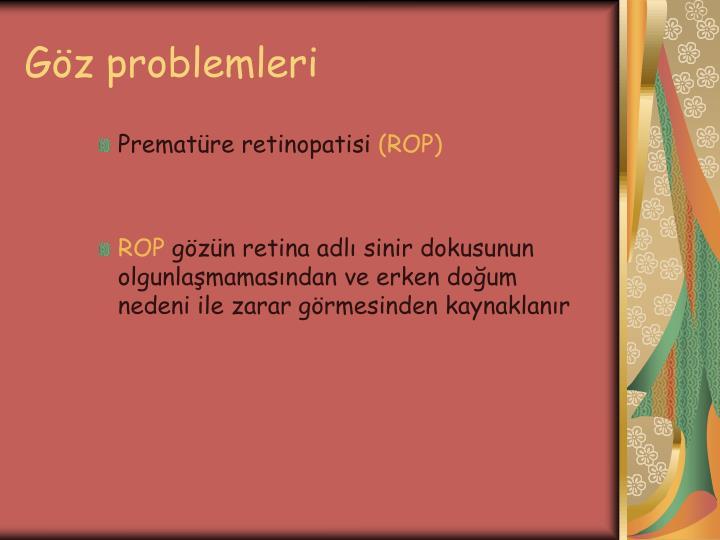 Göz problemleri