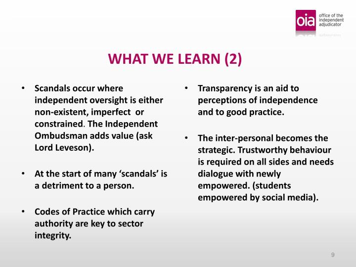 WHAT WE LEARN (2)
