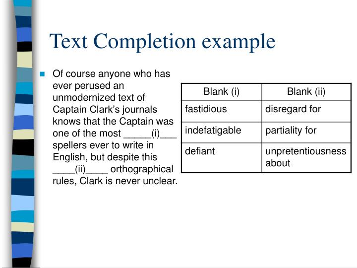 Text Completion example