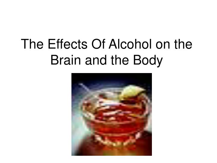 the effects of alcohol on the brain and the body n.