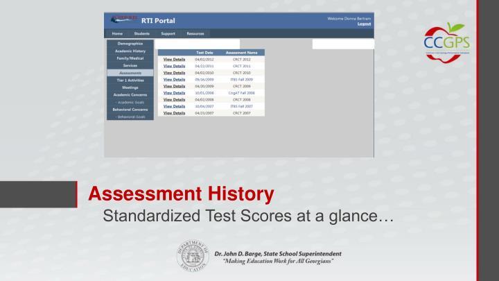 Assessment History