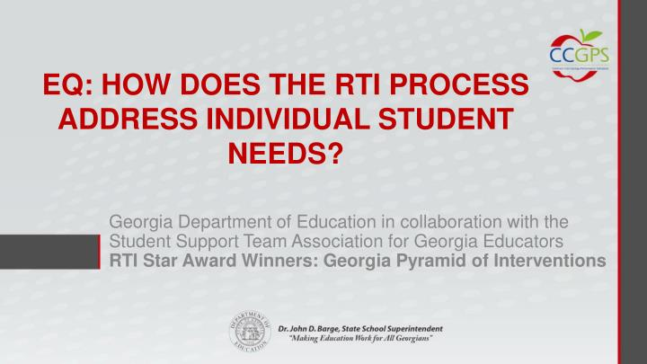 Georgia Department of Education in collaboration with the