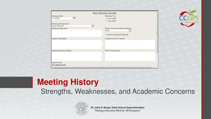 Meeting History