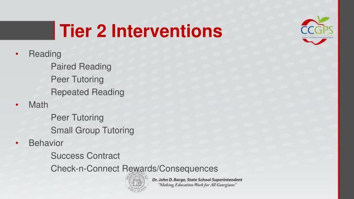 Tier 2 Interventions