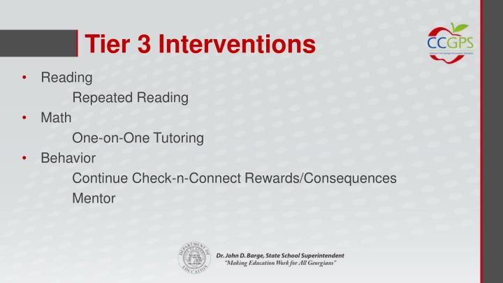 Tier 3 Interventions