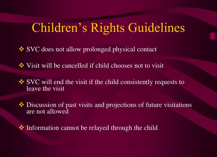 Children's Rights Guidelines
