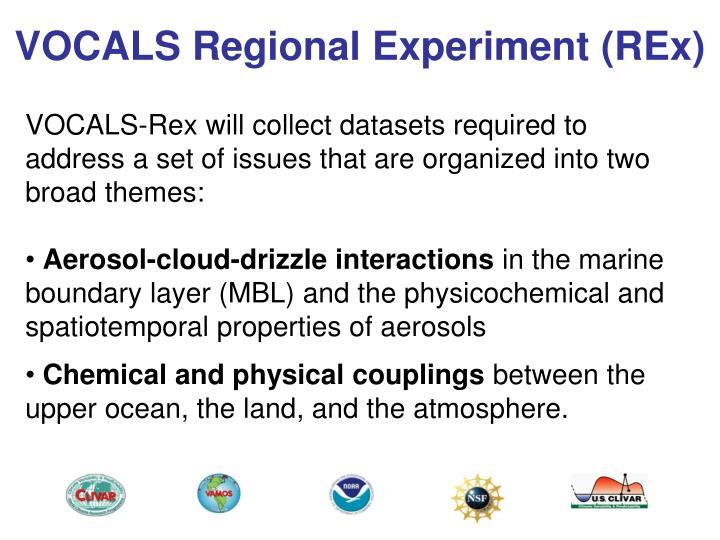VOCALS Regional Experiment (REx)