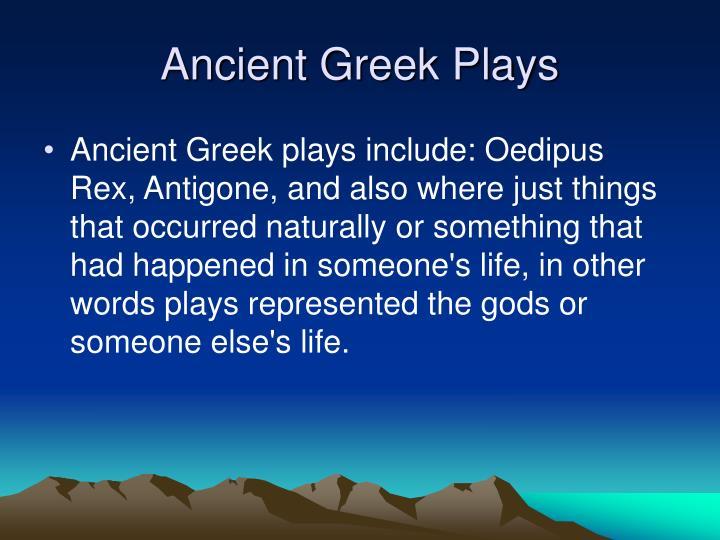 Ancient Greek Plays