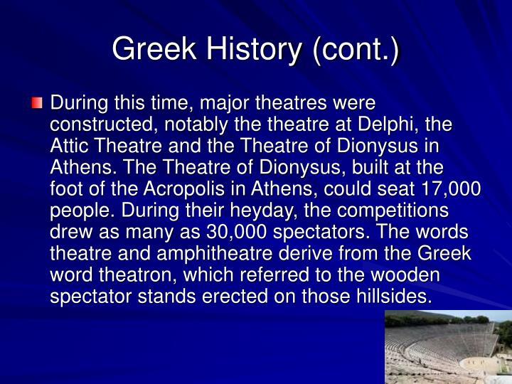 Greek History (cont.)