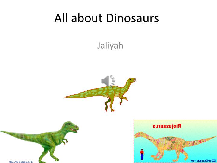 all about dinosaurs n.