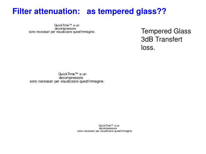 Filter attenuation:   as tempered glass??