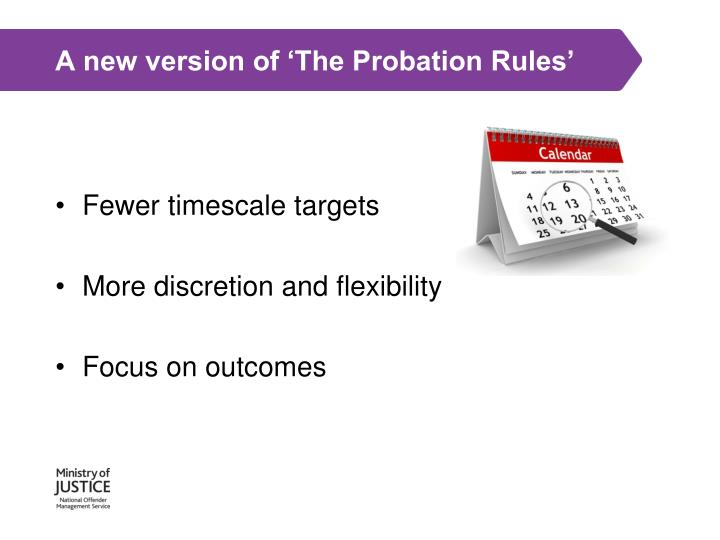 A new version of 'The Probation Rules'