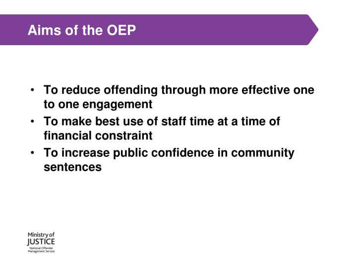 Aims of the OEP