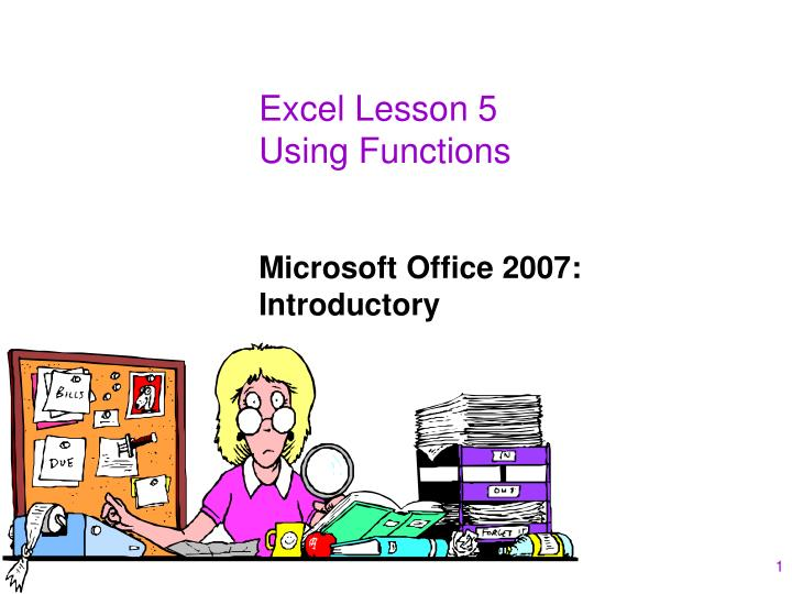 excel lesson 5 using functions n.