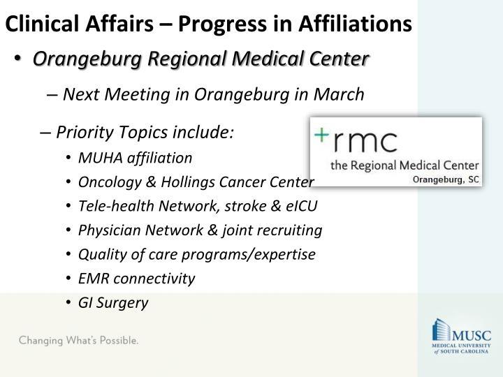 Clinical Affairs