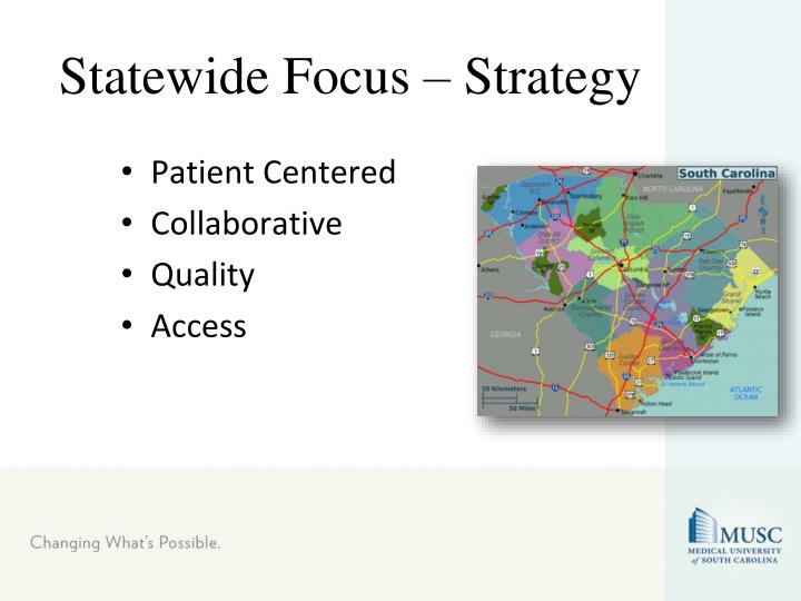 Statewide Focus – Strategy