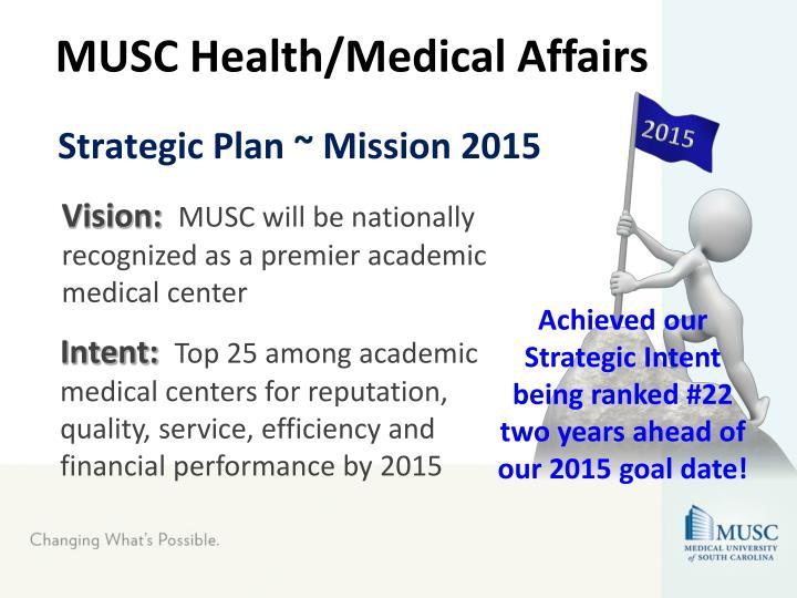 Strategic plan mission 2015