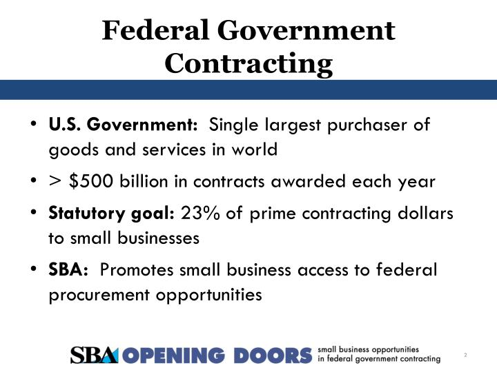 federal government contracting n.