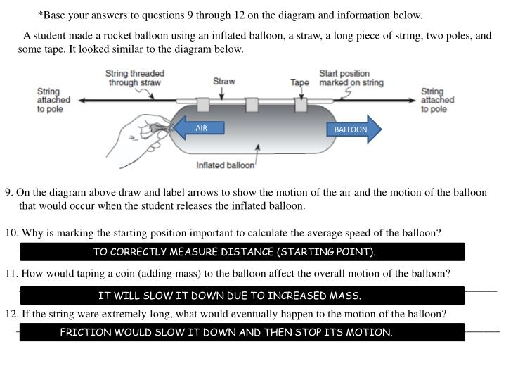 *Base your answers to questions 9 through 12 on the diagram and information below.