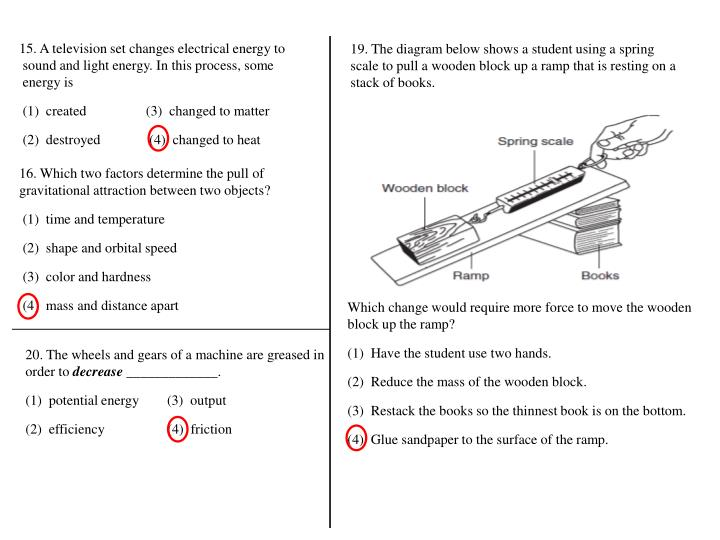 15. A television set changes electrical energy to