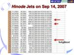 hinode jets on sep 14 2007