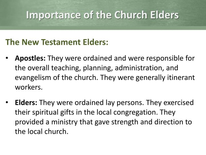 Importance of the Church Elders