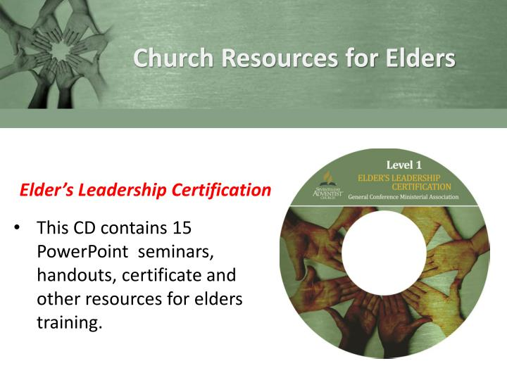 Church Resources for Elders