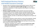 self employed business owners and health insurance coverage