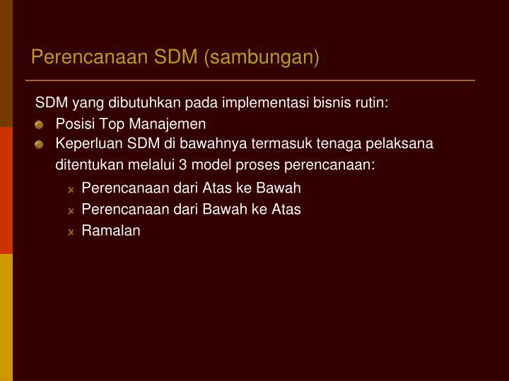 Perencanaan SDM (sambungan)
