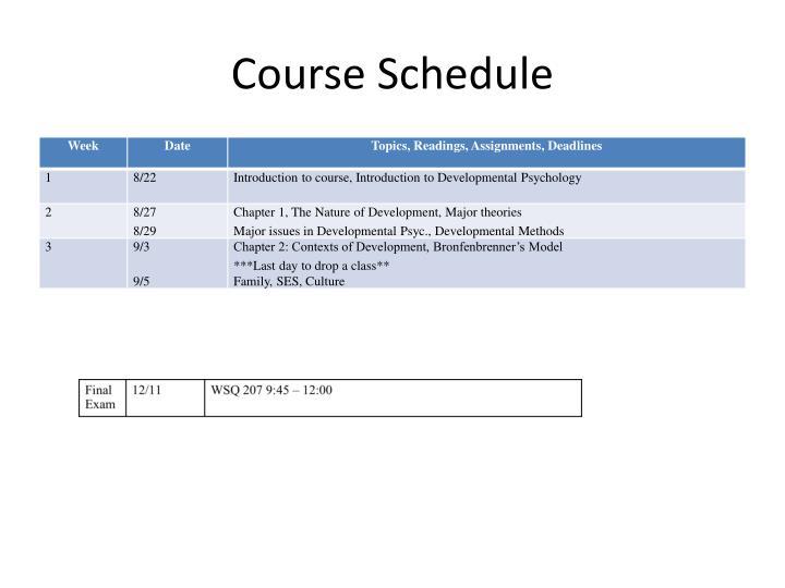 Course Schedule