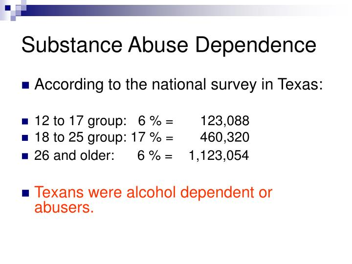 Substance Abuse Dependence