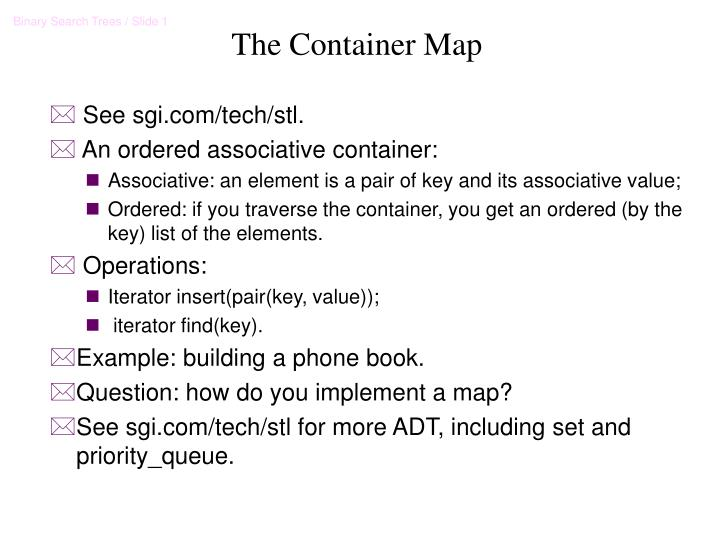 The container map