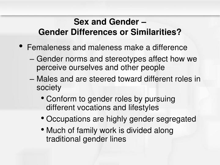 sexism traditional gender role What are the differences between sex, gender, and gender identity it's common for people to confuse sex, gender  gender includes gender roles.