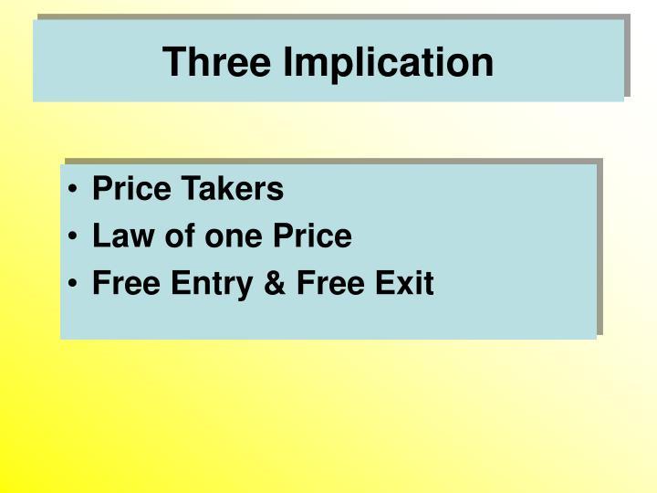 Three implication