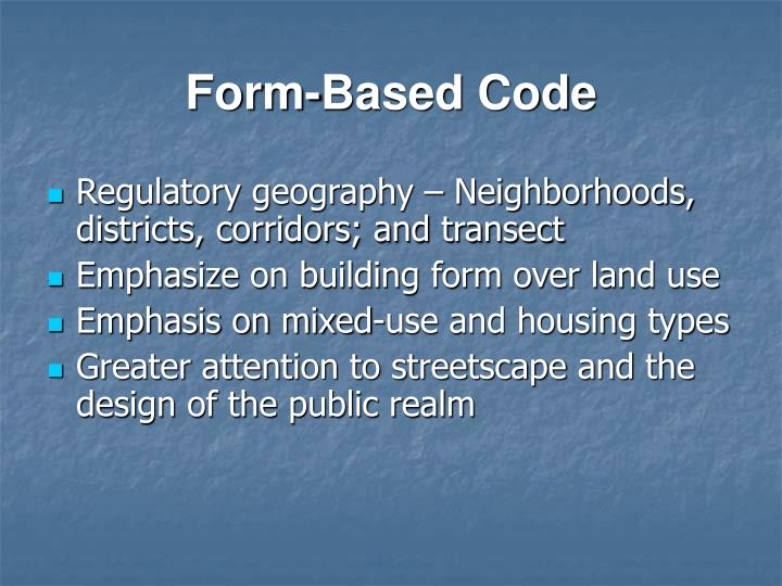 Form-Based Code