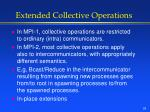 extended collective operations