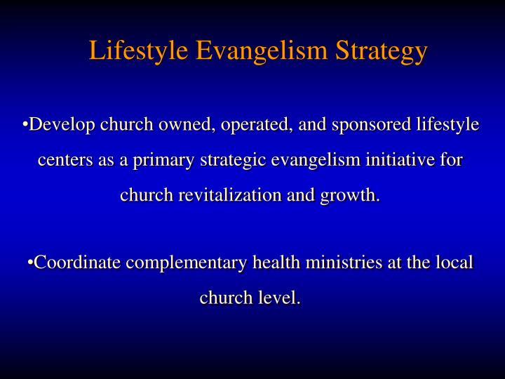 Lifestyle Evangelism Strategy