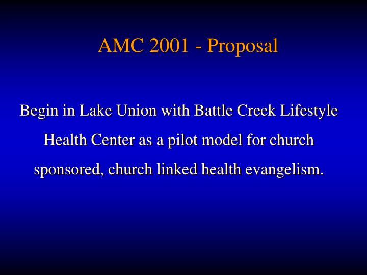 AMC 2001 - Proposal