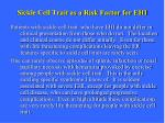 sickle cell trait as a risk factor for ehi