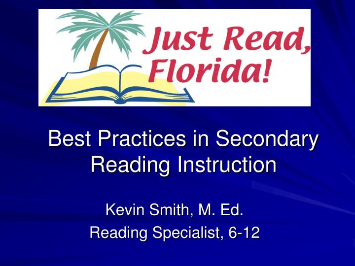 best practices in secondary reading instruction n.